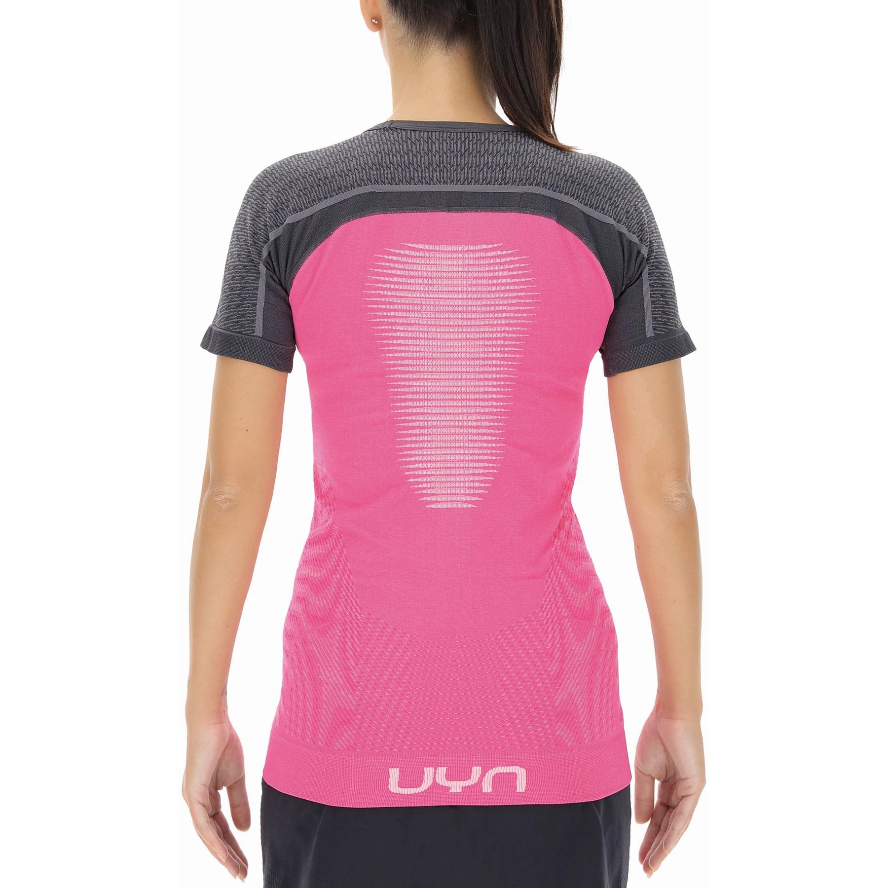 Bild von UYN Marathon Running T-Shirt Damen - Magenta/Charcoal/White