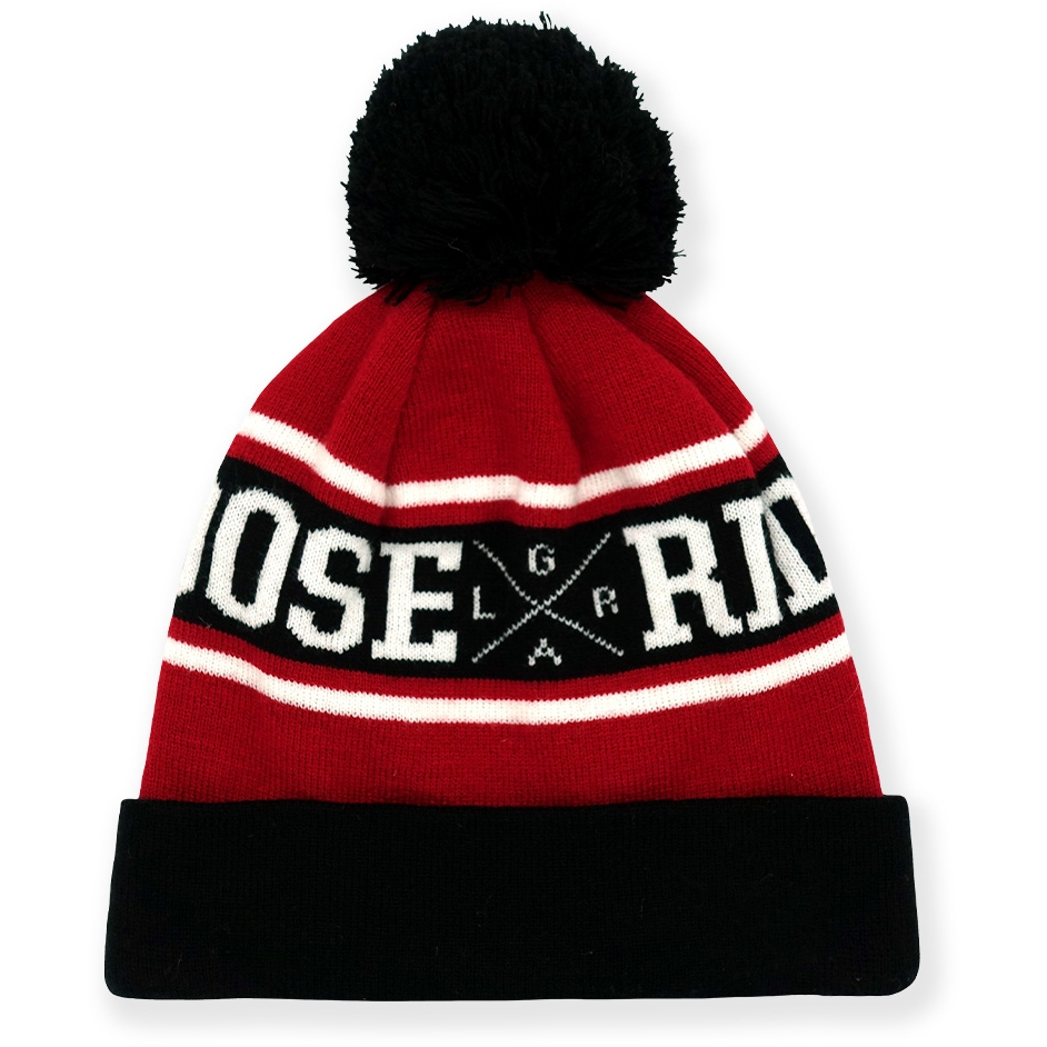 Image of Loose Riders Pom Pom Beanie - Red