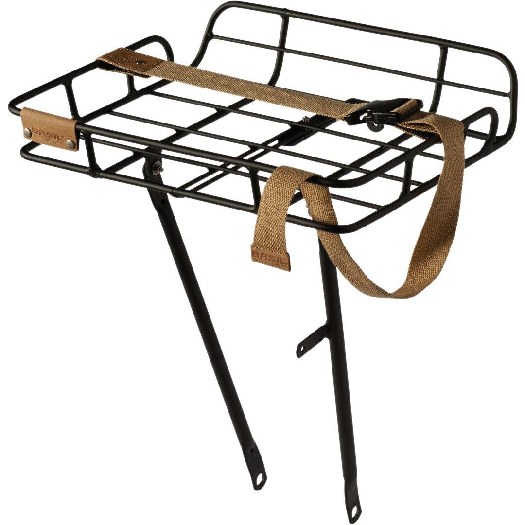 Produktbild von Basil Portland Vorderradträger hoch - matt schwarz