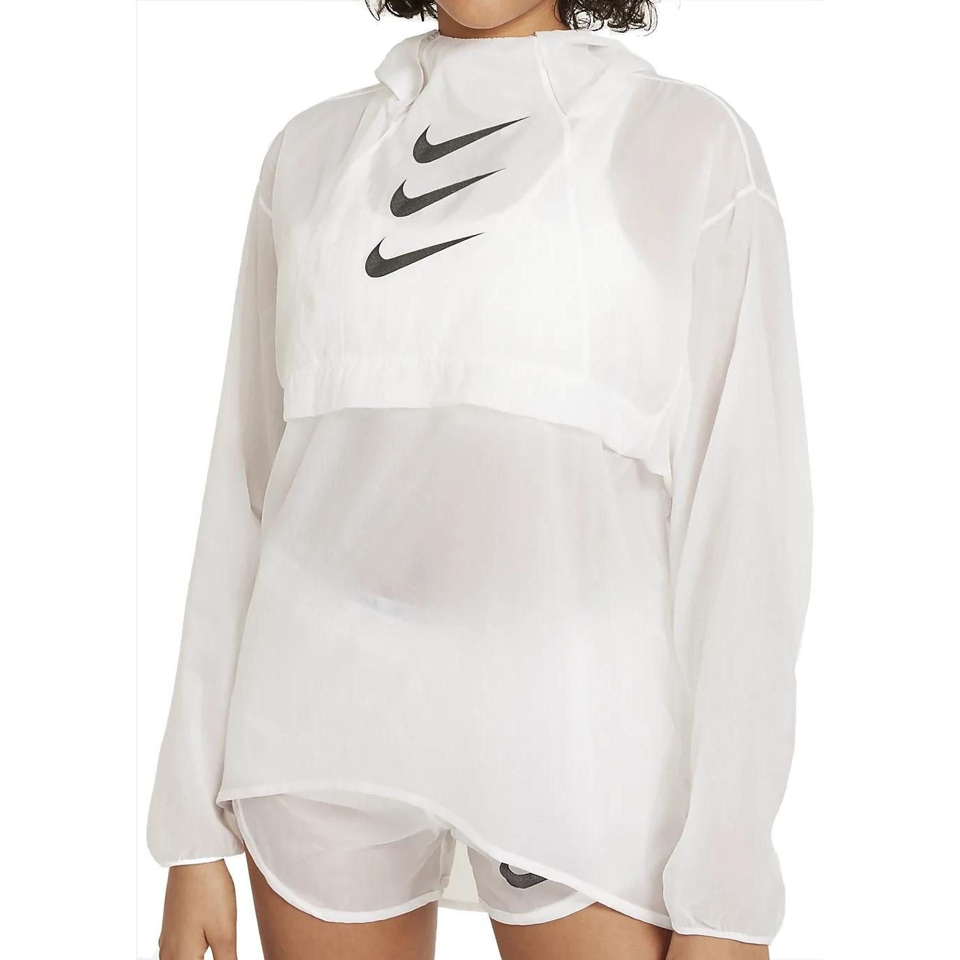 Nike Run Division Packable Damen-Laufjacke - white/black DA1276-100