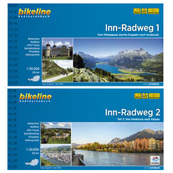 Image of Bikeline Bike Tour Books - Inn-Radweg