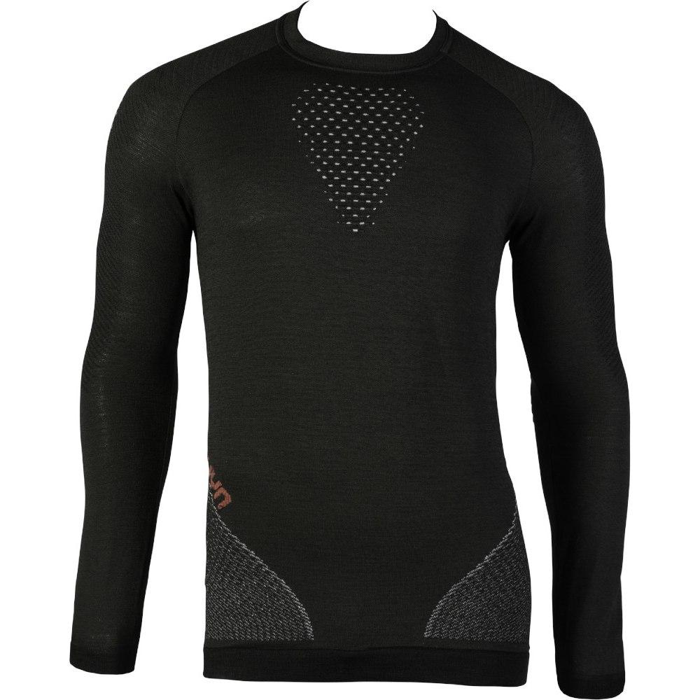UYN Man Fusyon Shirt Longsleeve Langarm-Unterhemd - Caviar/Beige/Bordeaux