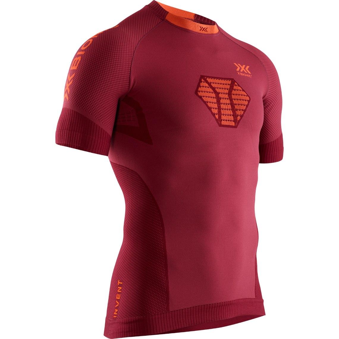 X-Bionic Invent 4.0 Run Speed Shirt Short Sleeves for Men - namib red/kurkuma orange