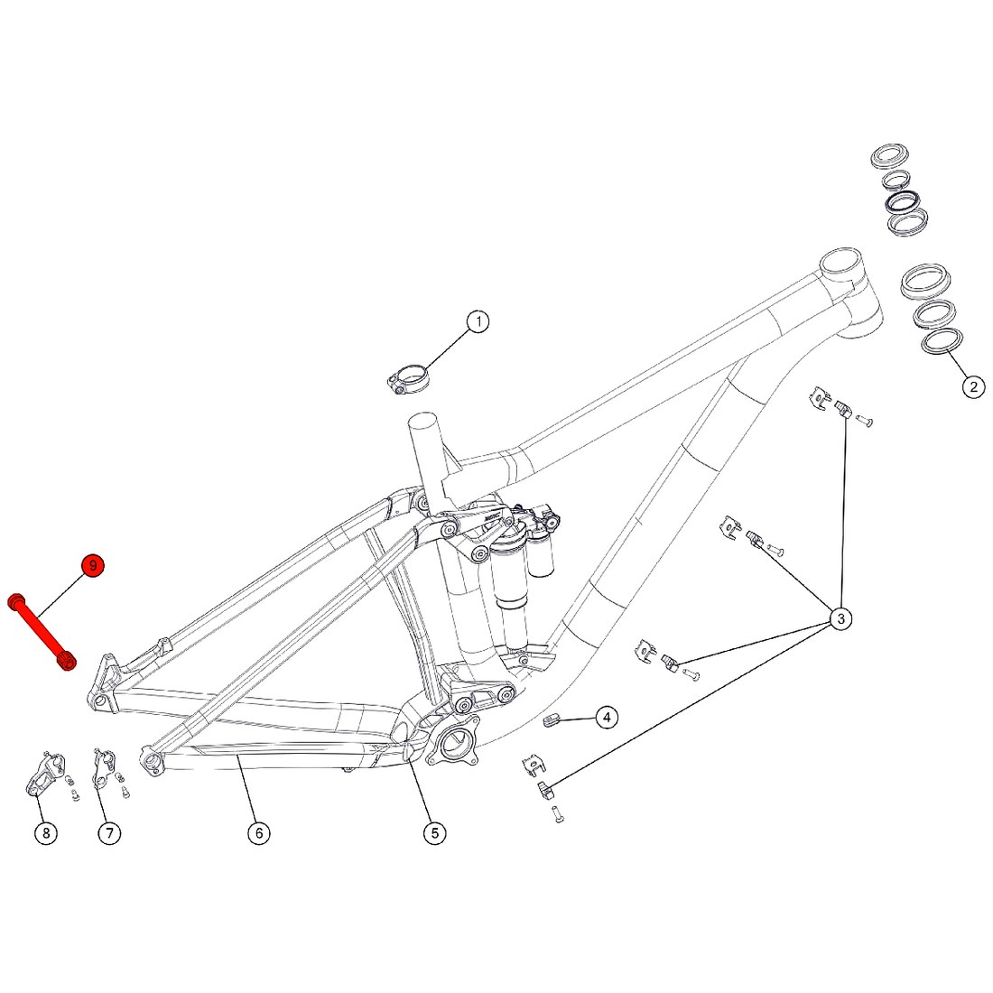 Image of BMC Thru Axle for Trailfox 02 / 03 (MY 2018) - Boost 12x148mm - 301188