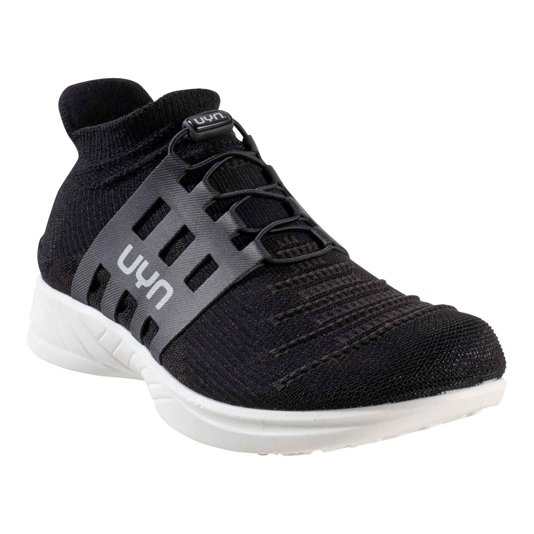 UYN X-Cross Tune Man Running Shoes - Optical Black/Black