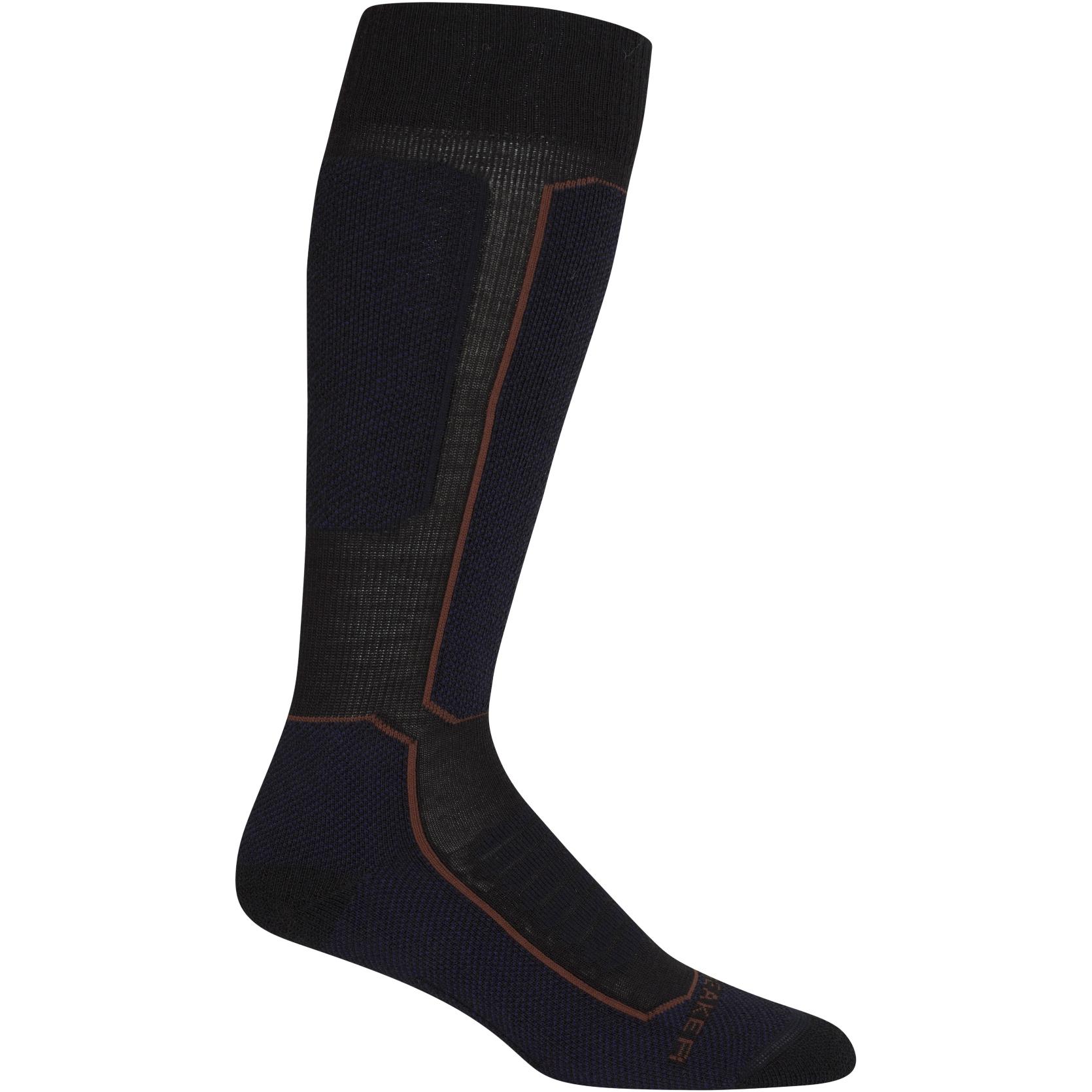 Bild von Icebreaker Ski+ Medium OTC Damen Socken - Black/Royal Navy/Espresso