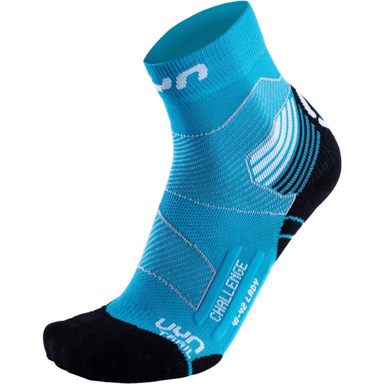 UYN Run Trail Challenge Socken Damen - Türkis/Weiß