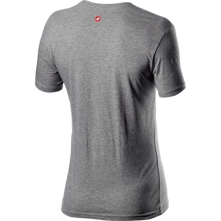 Image of Castelli Logo Tee - melange light grey 094