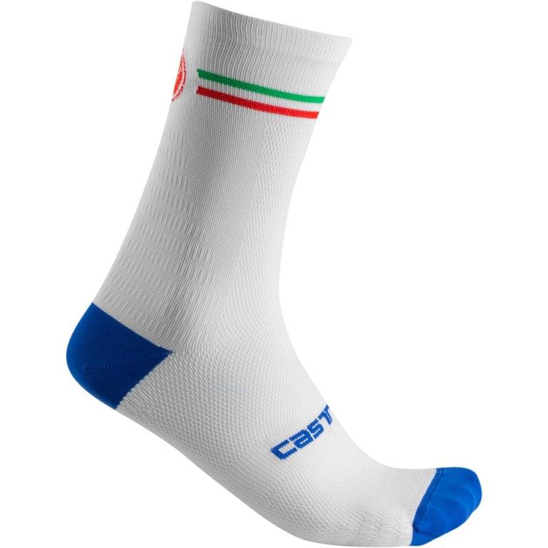 Castelli Italia 15 Sock 20119 - white 001