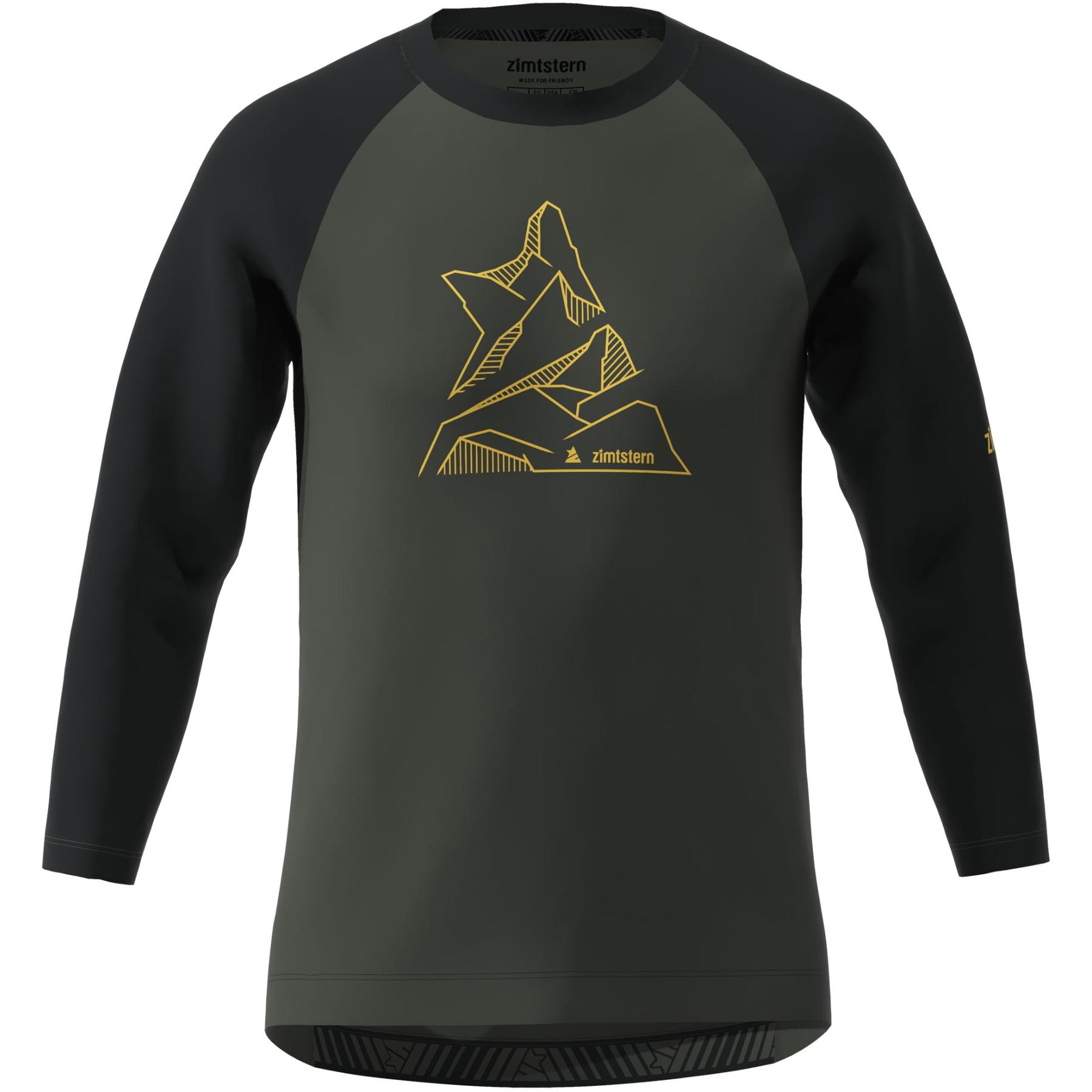 Zimtstern PureFlowz 3/4 Shirt - gun metal/pirate black