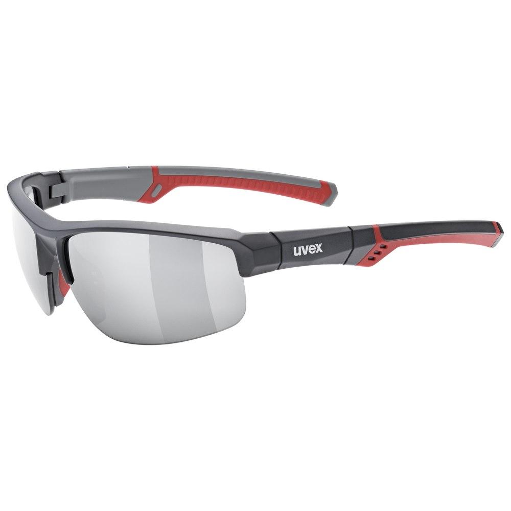 Uvex sportstyle 226 Brille - grey red mat/litemirror silver