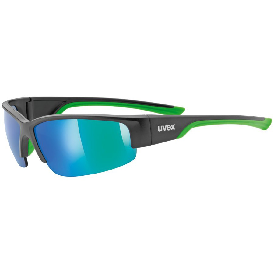 Uvex sportstyle 215 Glasses - black mat green/mirror green