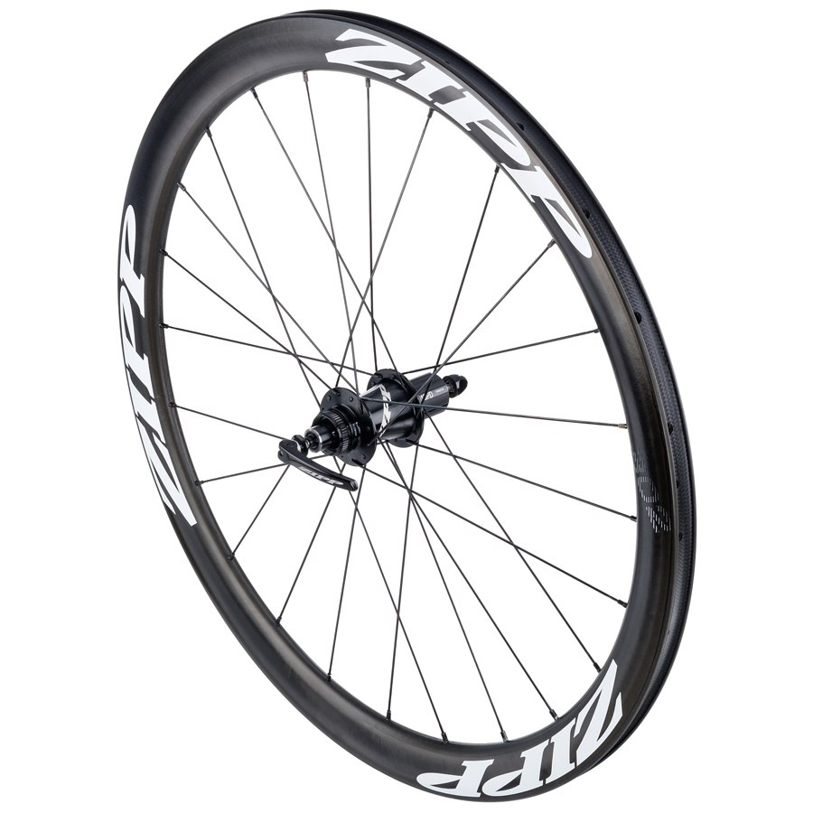 Image of ZIPP 302 Carbon Clincher Disc Brake Rear Wheel - Centerlock - 12x142mm/QR - White