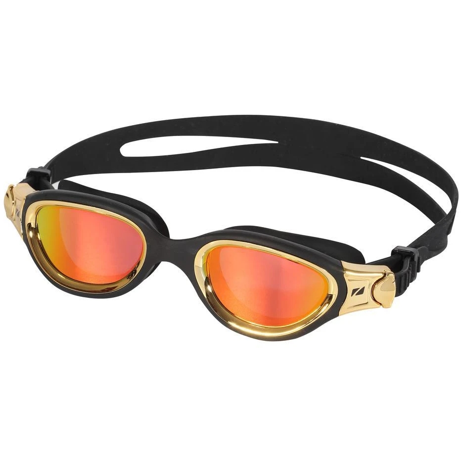 Zone3 Venator-X Swim Goggles - Polarized - black/metallic gold - polarized revo gold lens