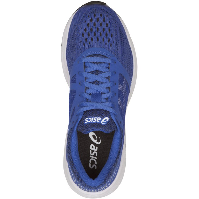 Image of asics RoadHawk FF GS Children Running Shoe - victoria blue/white/black