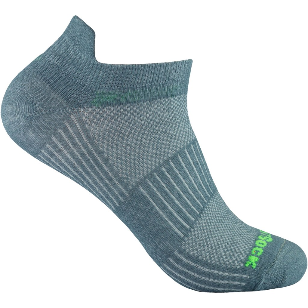 WRIGHTSOCK Coolmesh II Low Tab Double Layer Socks - Steel grey - 803-34