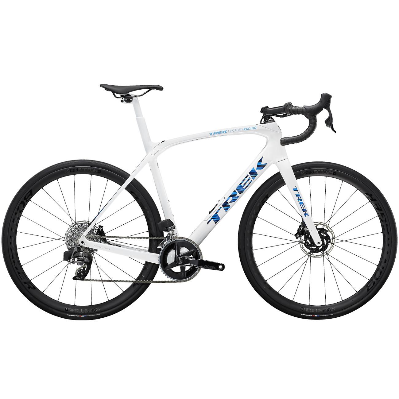 Trek DOMANE SLR 6 Rival eTap Rennrad - 2022 - Trek White / Blue