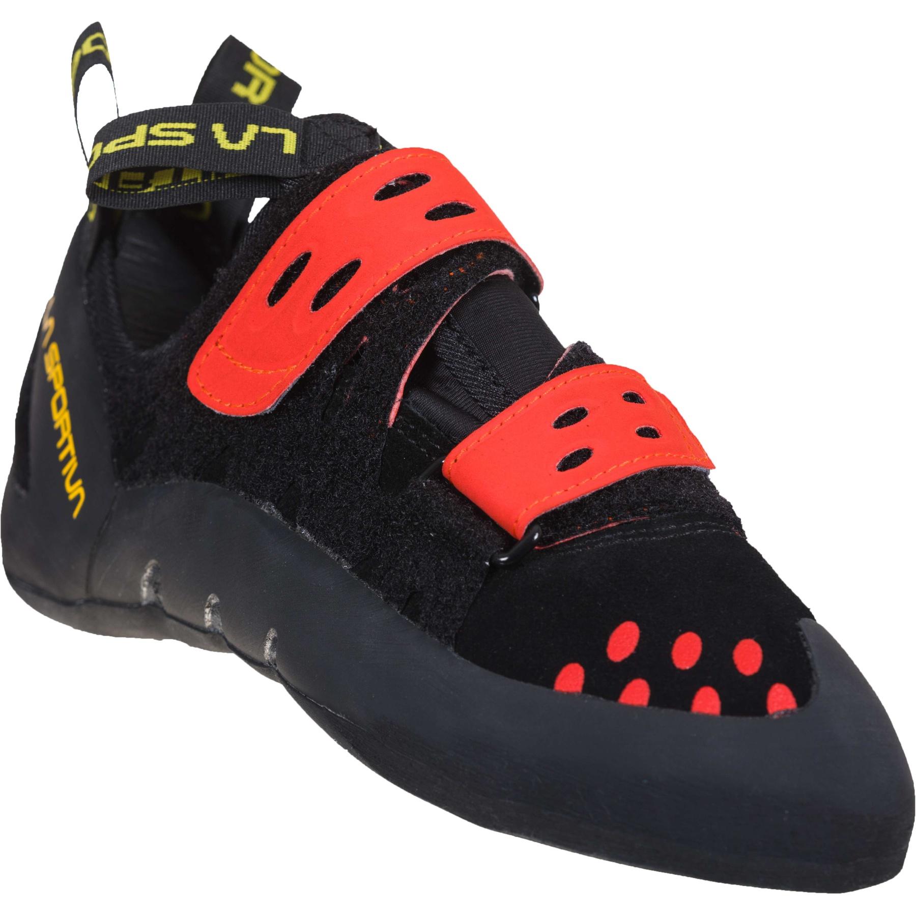 Image of La Sportiva Tarantula Climbing Shoes - Black/Poppy