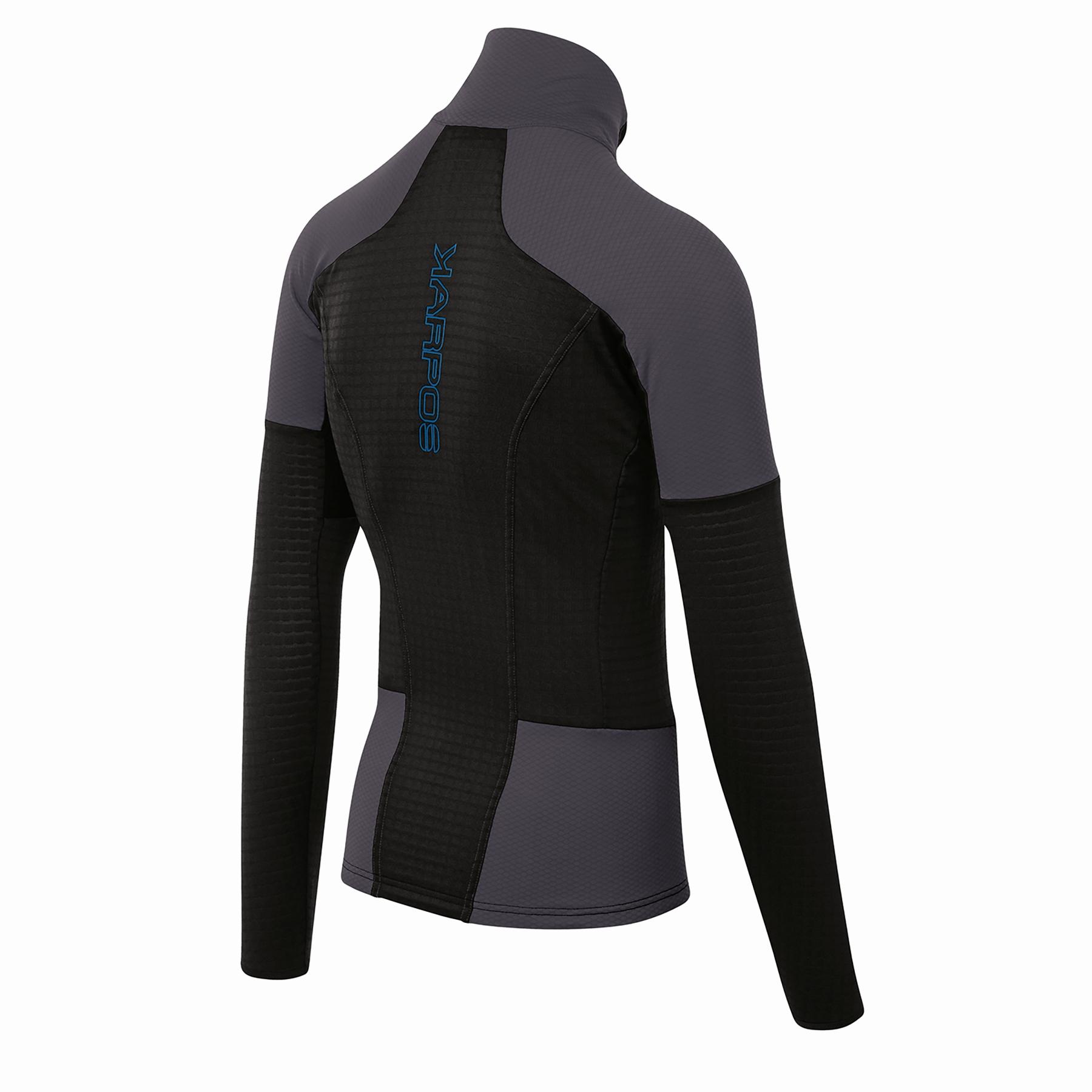 Image of Karpos Puez Fleece Mid Layer Jacket - Black/Dark Grey