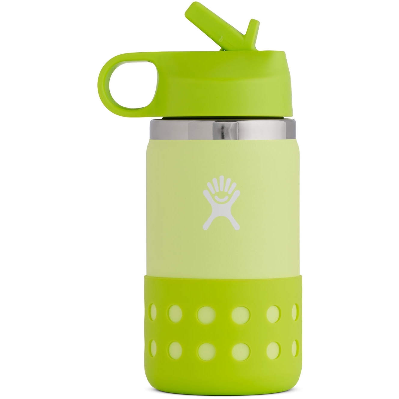 Produktbild von Hydro Flask 12 Oz Kids Wide Mouth Straw Lid & Boot Thermoflasche - 355 ml - Honeydew