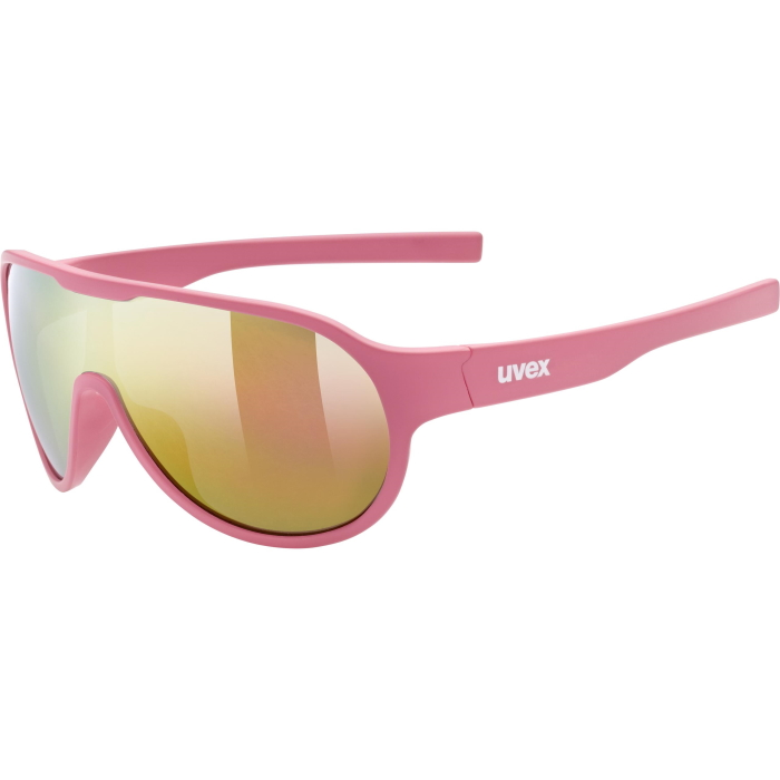 Uvex sportstyle 512 Kids Glasses - pink mat/mirror red