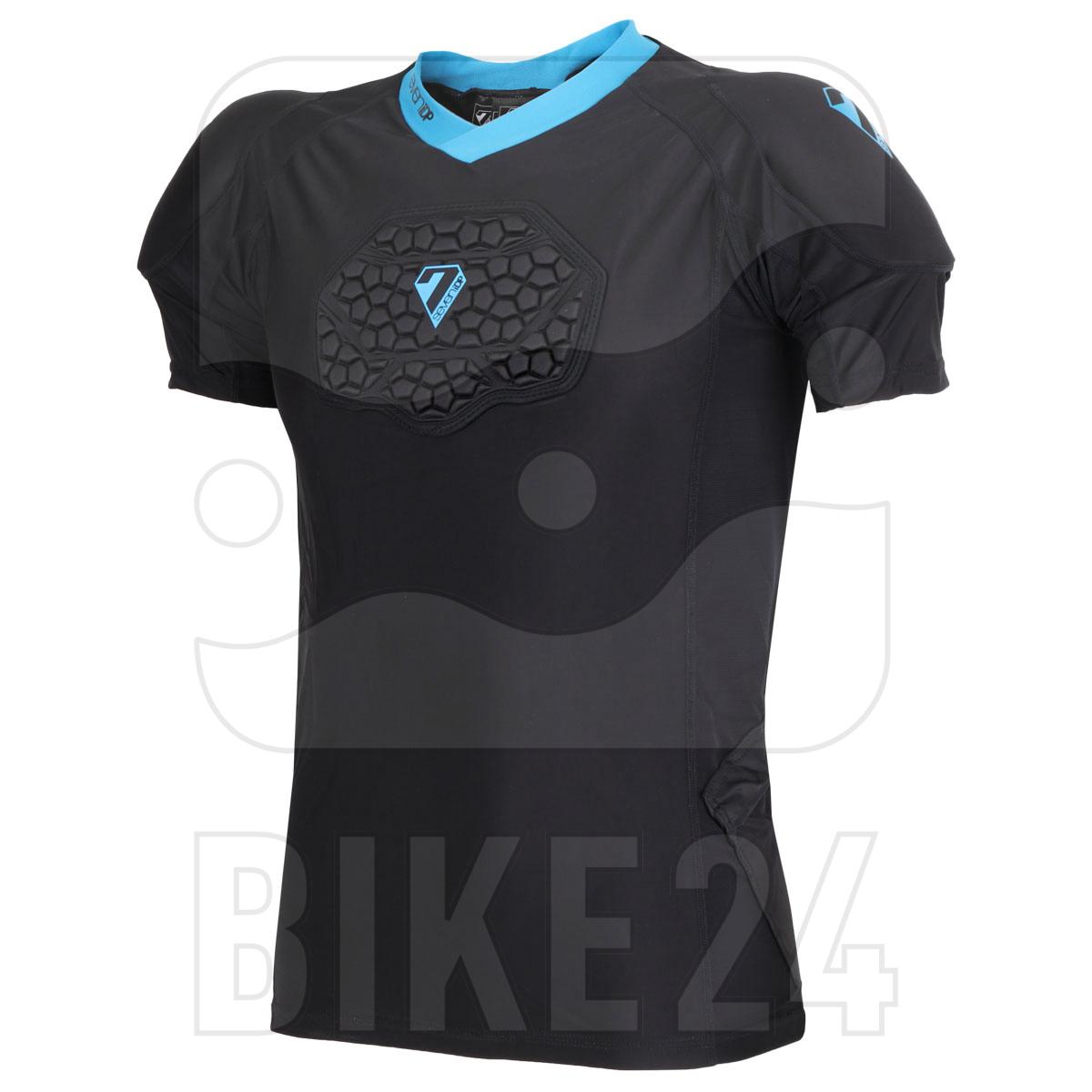 7 Protection 7iDP Flex Body Suit Protector T-Shirt - black-blue