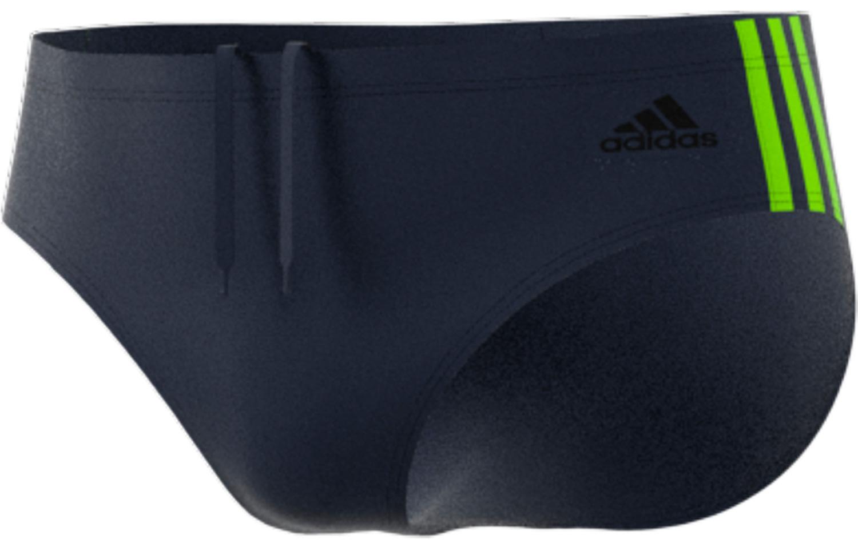 adidas Men's 3-stripes swim trunk - legend ink/semi solar slime