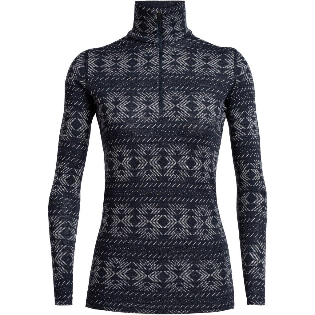 Produktbild von Icebreaker 250 Vertex Half Zip Crystalline Damen Langarmshirt - Midnight Navy
