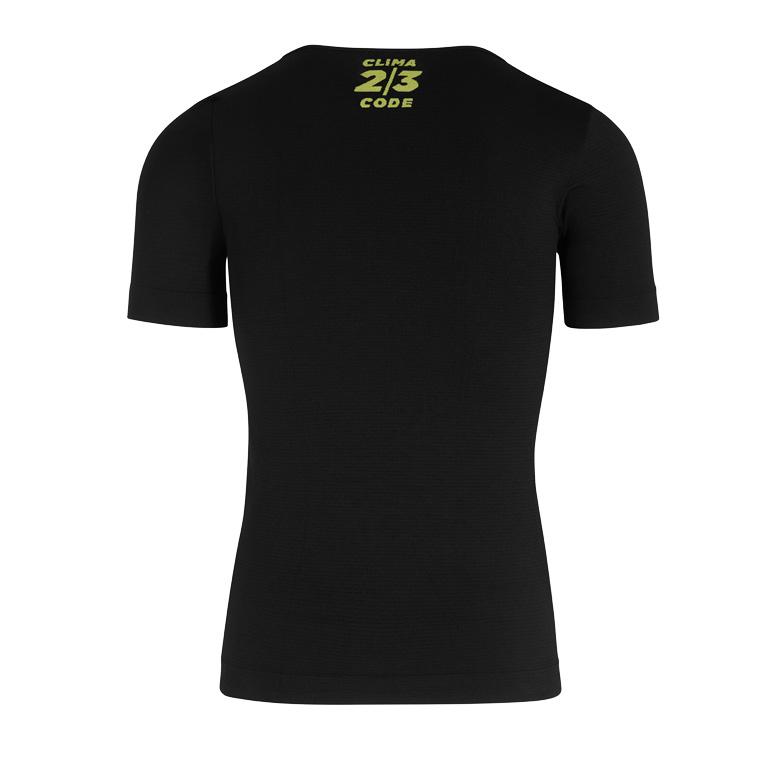 Image of Assos BODY INSULATOR ASSOSOIRES Spring Fall Short Sleeve Skin Layer Undershirt - blackSeries