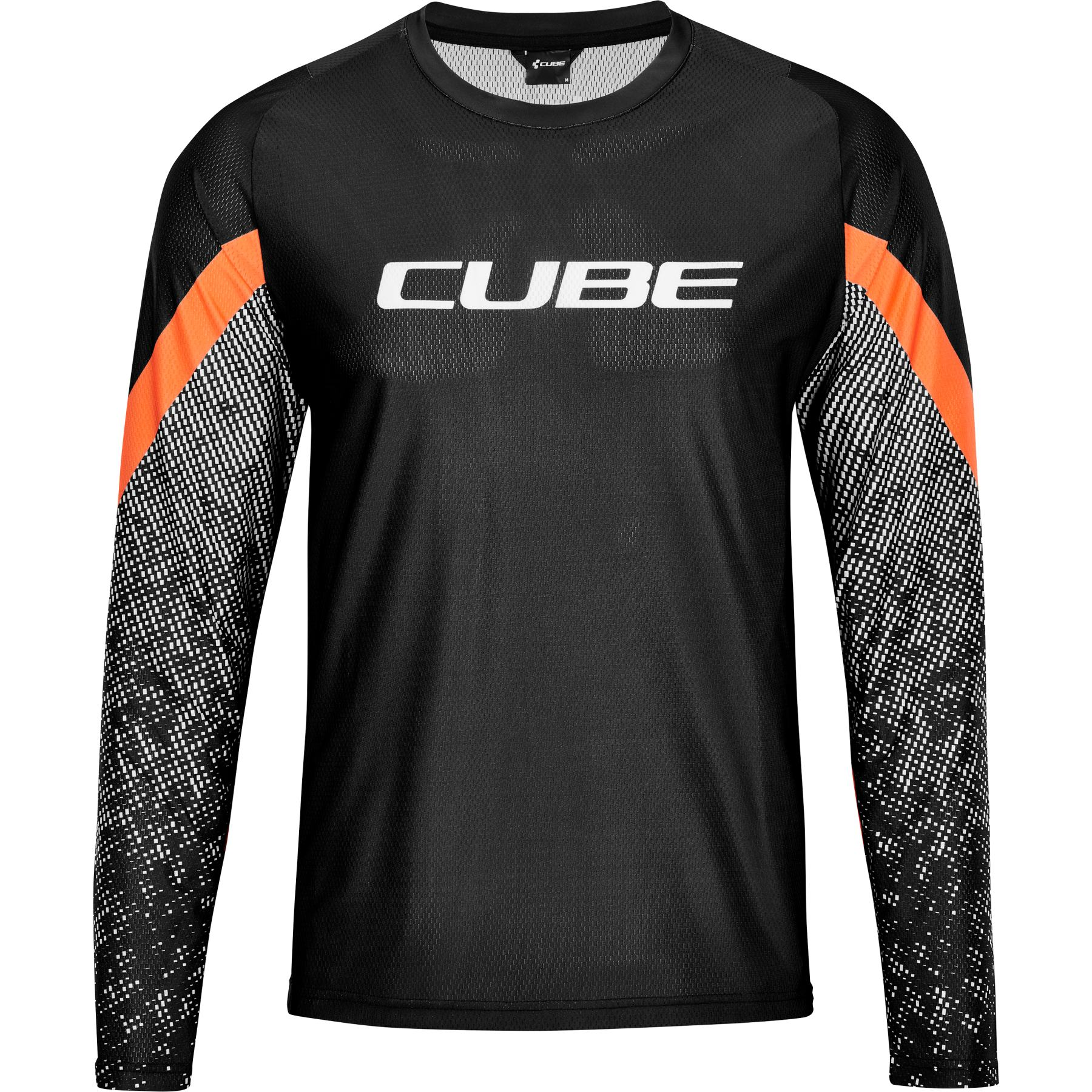Picture of CUBE EDGE Round-Neck Longsleeve Jersey - black'n'orange