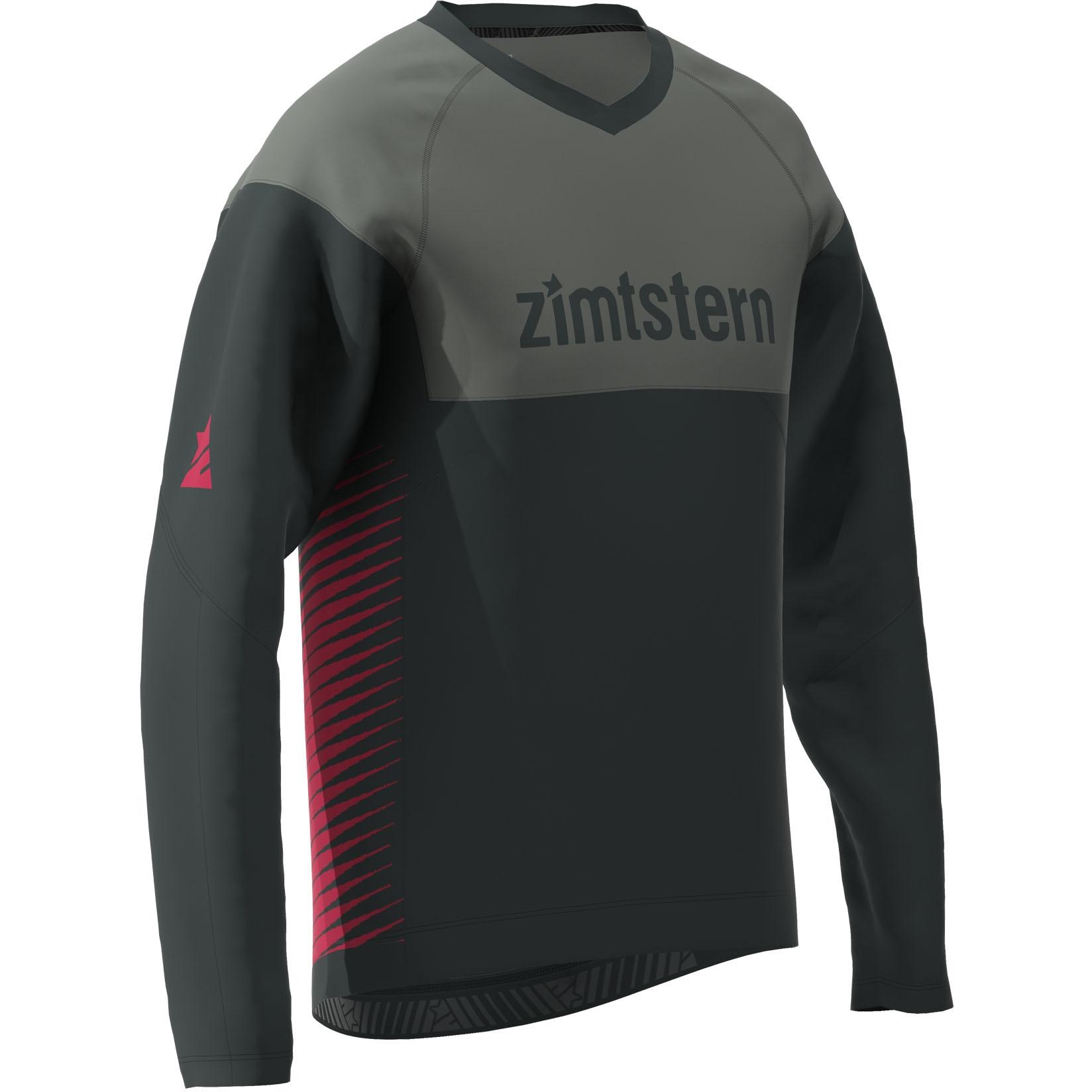 Bild von Zimtstern Bulletz Langarm-Shirt - pirate black/gun metal/jester red
