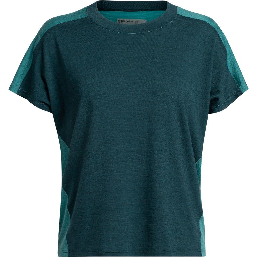 Icebreaker Womens Kinetica Crewe Short Sleeve Shirt - Nightfall/Blue Spruce