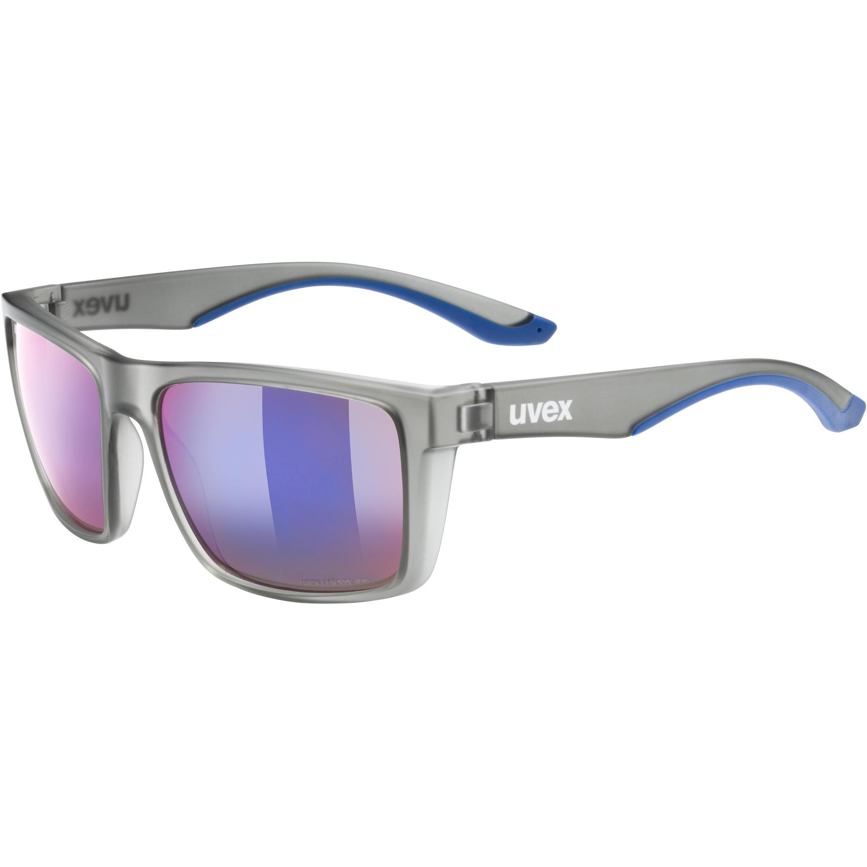 Uvex lgl 50 CV Glasses - smoke mat/colorvision mirror plasma