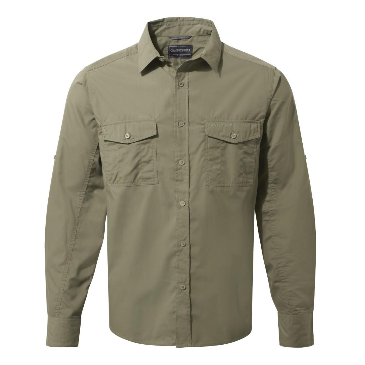 Craghoppers Kiwi Long Sleeved Shirt - Pebble