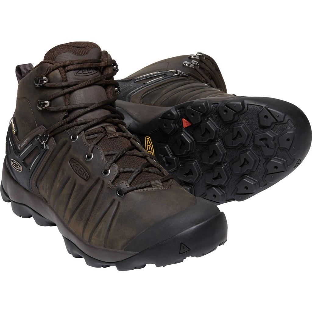 KEEN Venture Mid Leather Waterproof Men's Hiking Ankle Boot - Mulch / Black