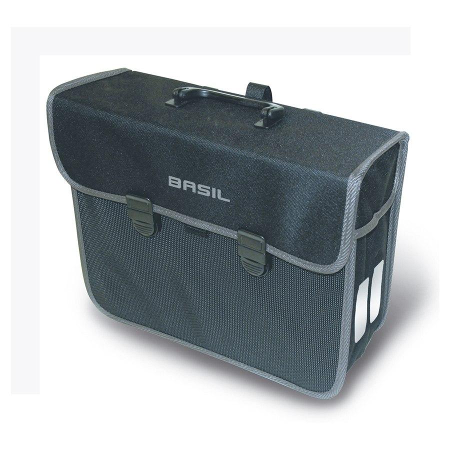 Basil Malaga Rear Bag - black