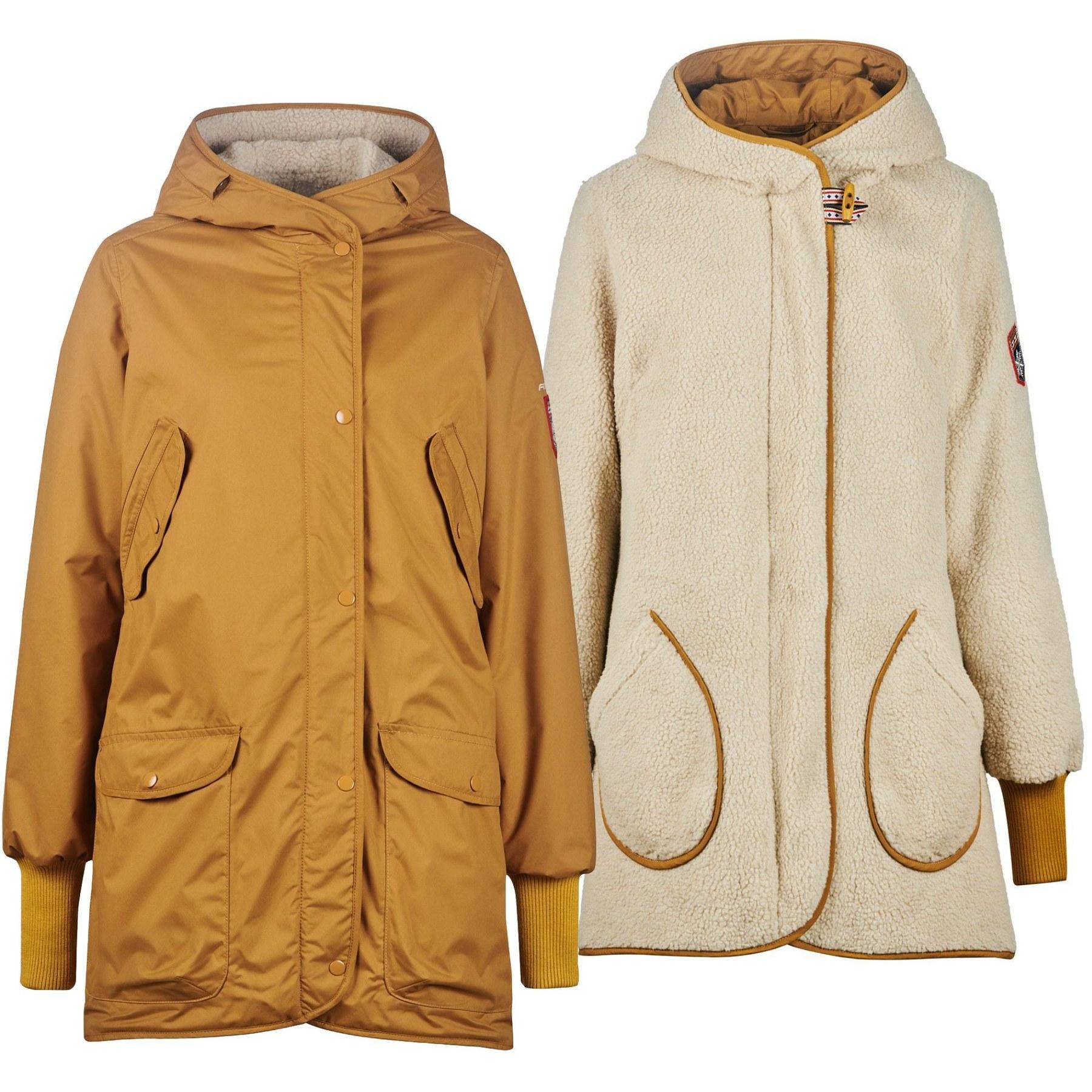 Finside SUOMUKKA Women Reversible Winter Jacket - cinnamon/pebble