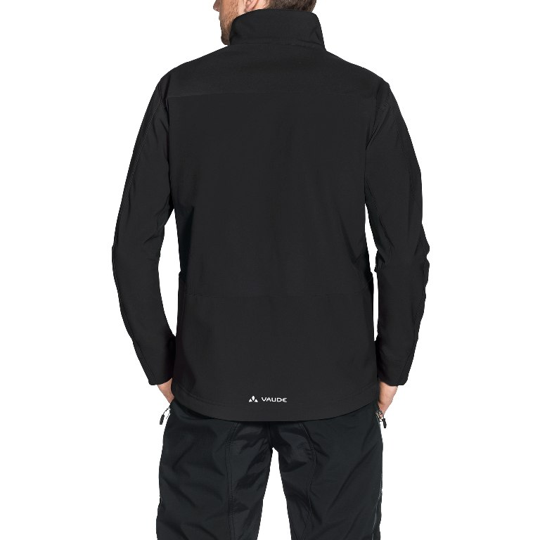 Image of Vaude Men's Virt Softshell Jacket - black/red