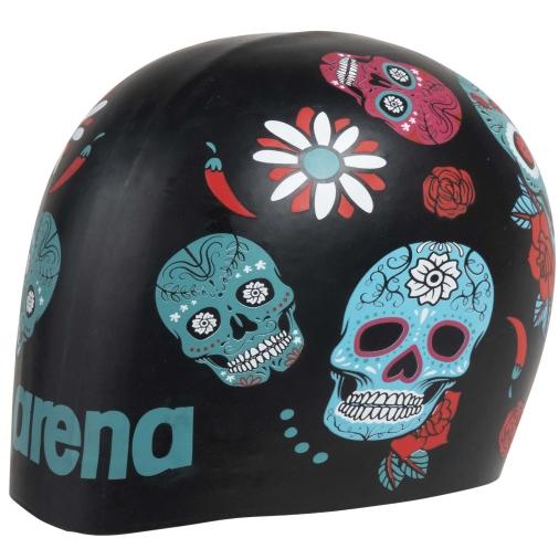 Produktbild von arena Poolish Moulded Schwimmkappe - crazy skulls carnival