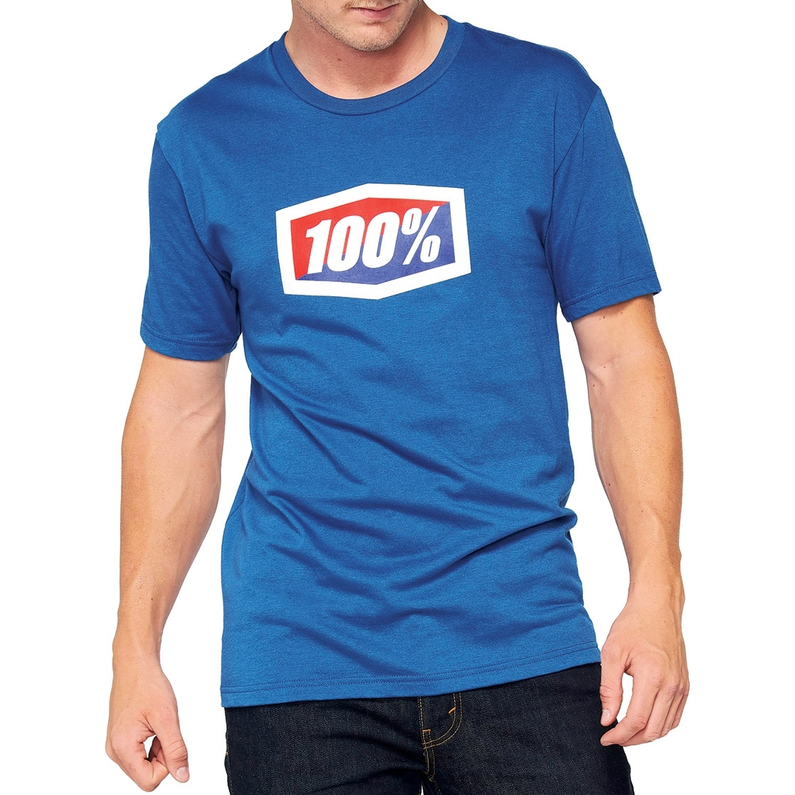 100% Official Camisa - azul
