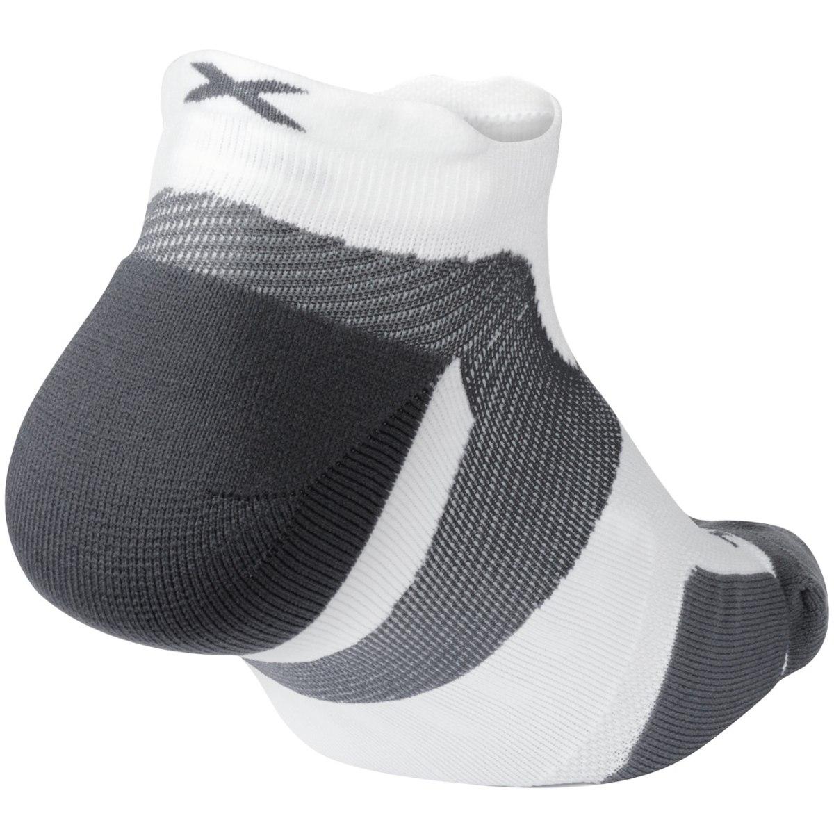 Imagen de 2XU Vectr Cushion No Show Socks - white/grey