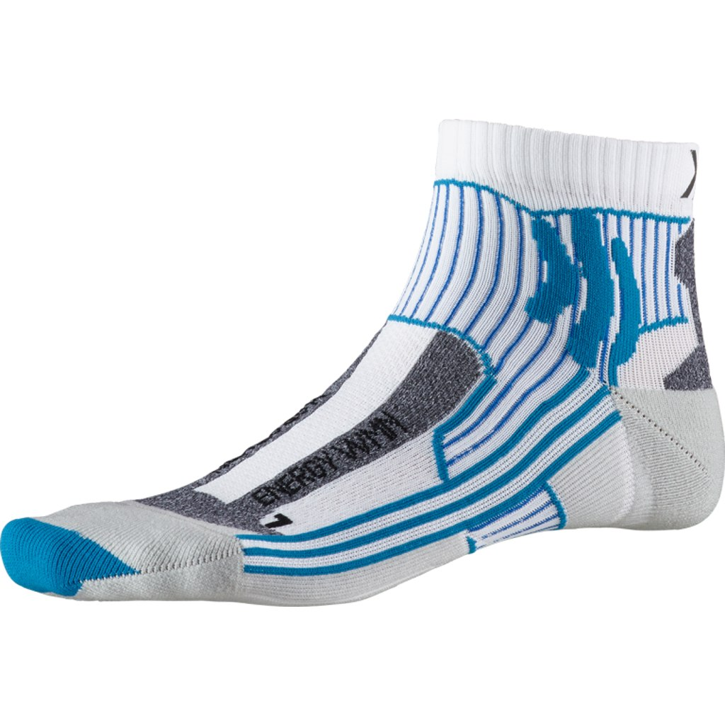X-Socks Marathon Energy Damen Laufsocken - white print