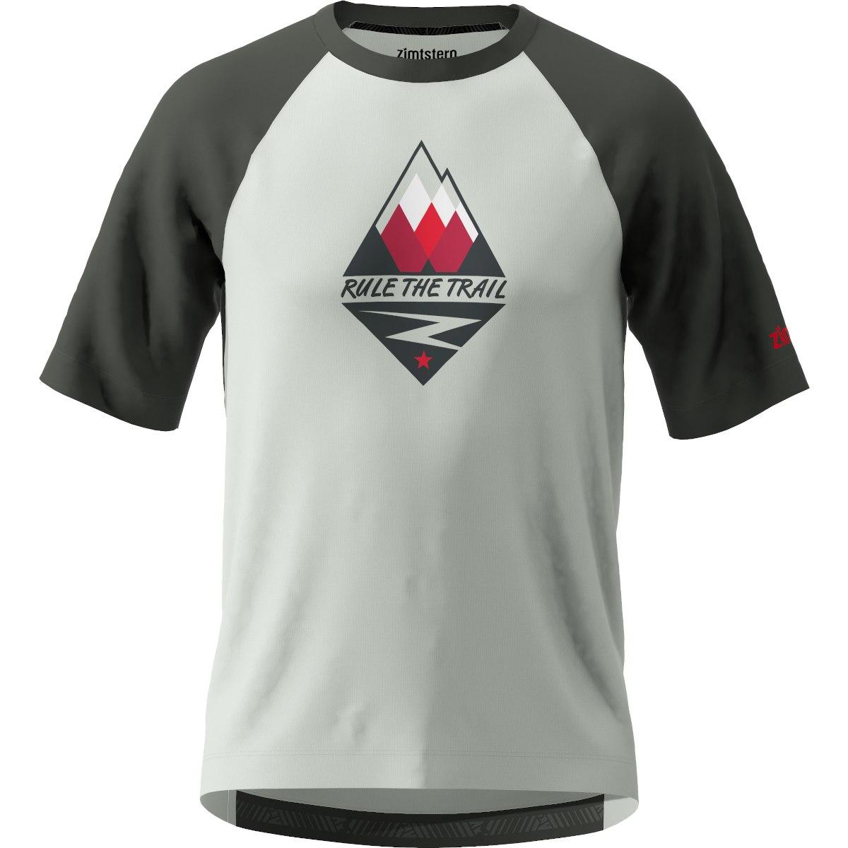 Zimtstern PureFlowz MTB Short Sleeve Shirt - glacier grey/gun metal/cyber red