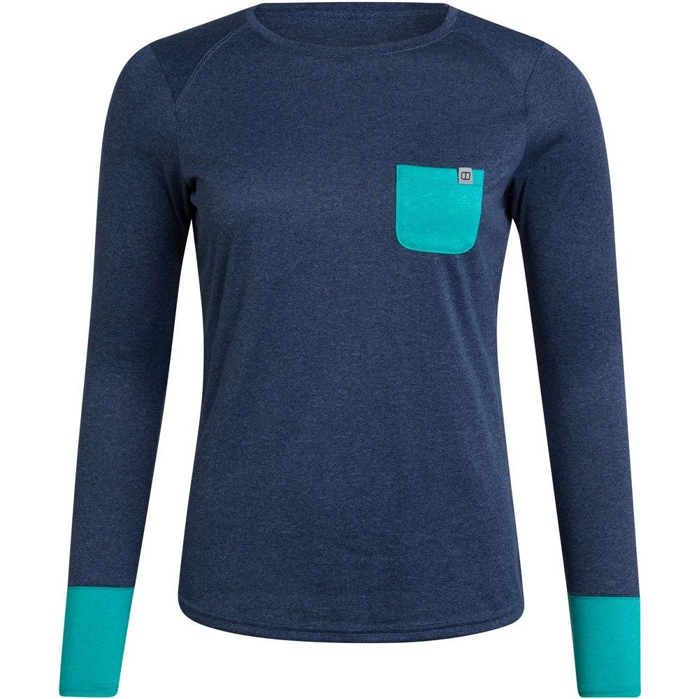 Berghaus Women's Explorer Tech Tee Long Sleeve Shirt Crew - Dusk/Vintage Indigo/Ceramic DM1
