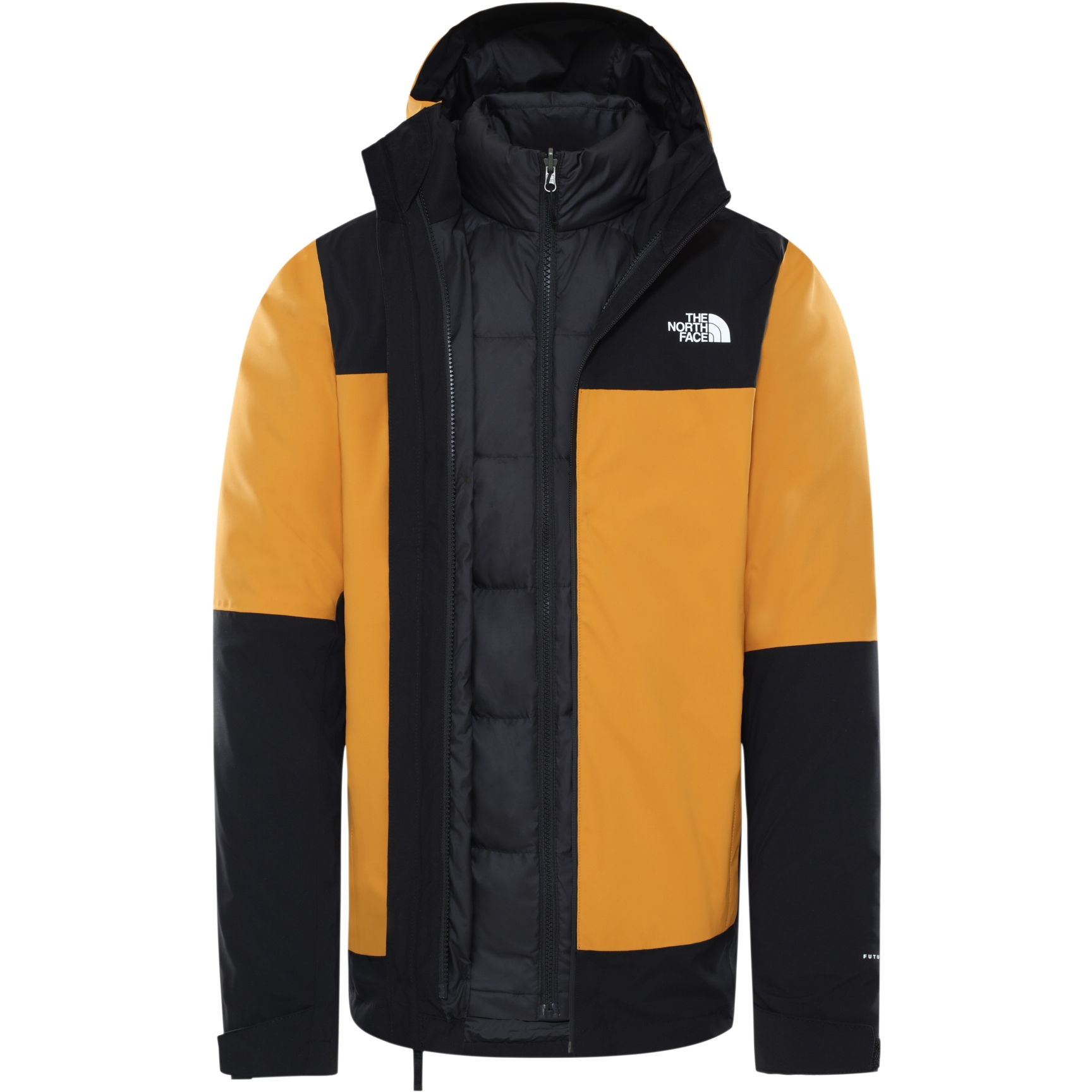 Produktbild von The North Face Herren Mountain Light FutureLight Triclimate Jacke - Citrine Yellow/TNF Black/TNF Black