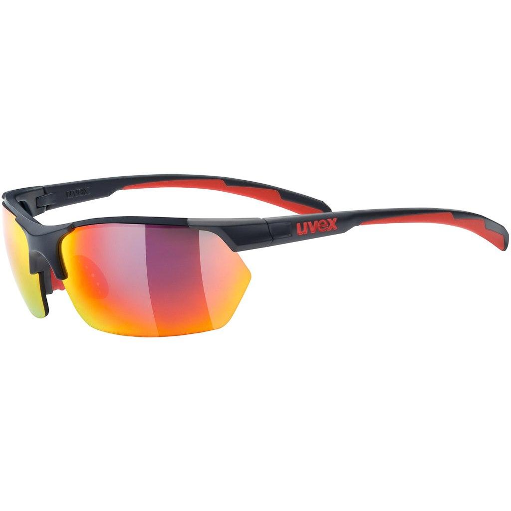 Uvex sportstyle 114 Brille - grey red/mirror red + litemirror orange + clear