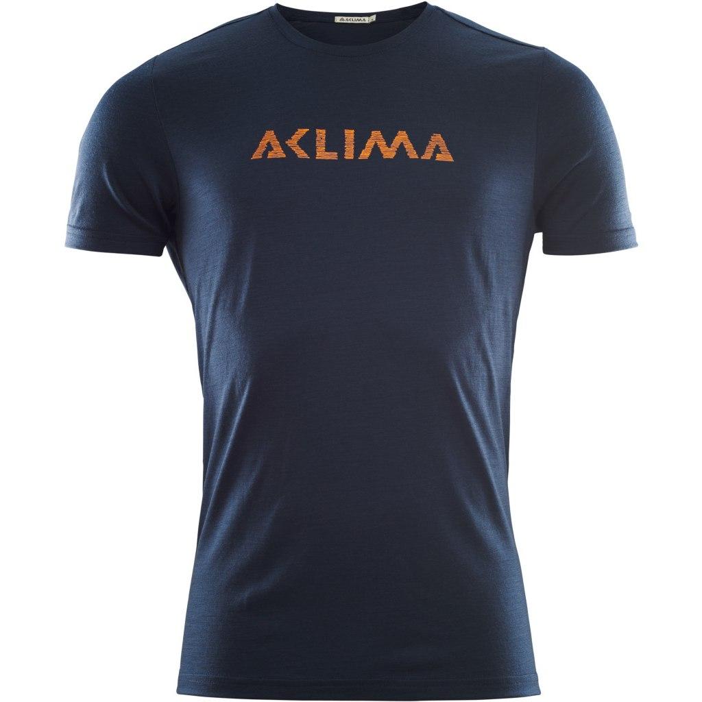 Produktbild von Aclima Lightwool T-Shirt Logo - navy blazer