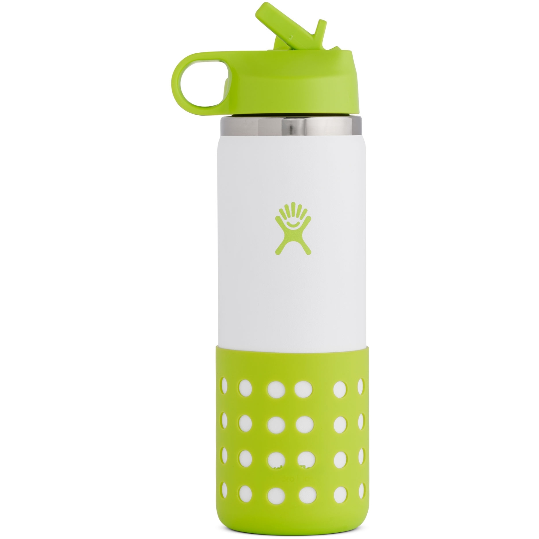 Hydro Flask 20 Oz Kids Wide Mouth Straw Lid & Boot Thermoflasche - 591 ml - Jungle