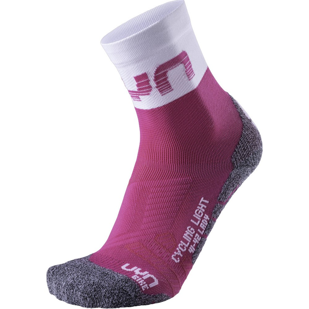UYN Cycling Light Socken Damen - Pink/Weiß