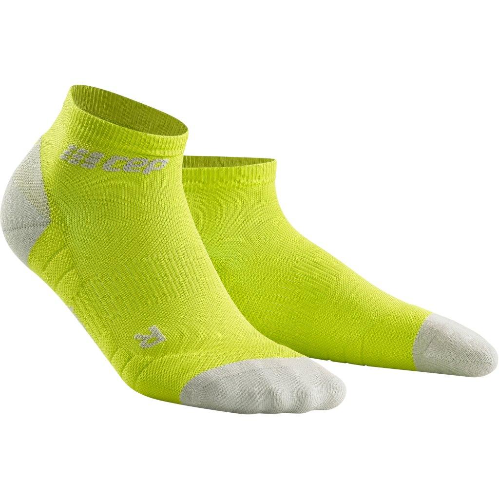 CEP Compression Low Cut Socks 3.0 - lime/light grey